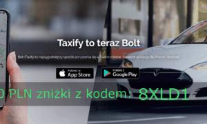 Bolt – kod promocyjny -10zł na przejazdy